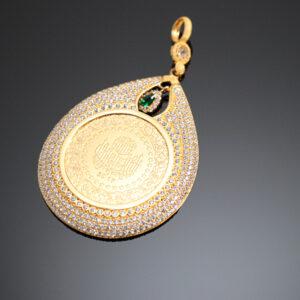 Vedhæng med en 100 kurush guldmønt i 22 karat guld