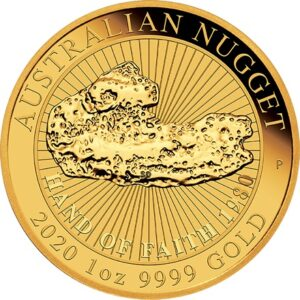 Gold Australian Nugget 1oz- Hands of Faith 2020