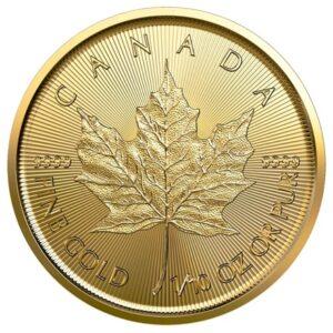 Maple Leaf 1/10oz guldmønt (2021)
