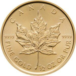 Maple Leaf 1/2oz guldmønt (2021)