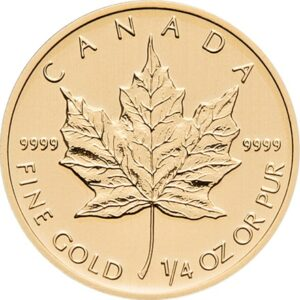 Maple Leaf 1/4oz guldmønt (2020)