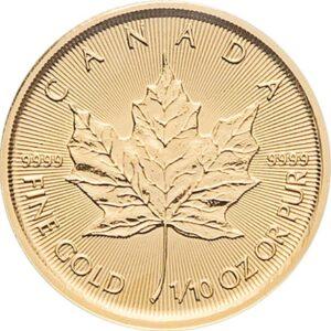 Maple Leaf 1/10oz guldmønt (2020)