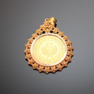 Vedhæng med 100 kurush mønt i 22karat guld