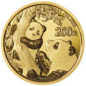 China Panda 15g guldmønt (2021)