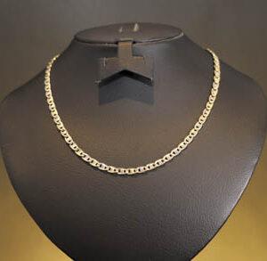 Flad halskæde 14 karat guld