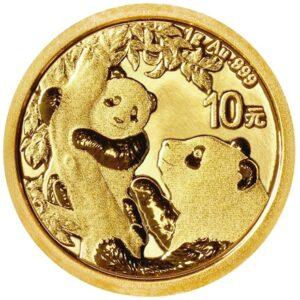 Kinesiske Panda guldmønt 1g 2021.