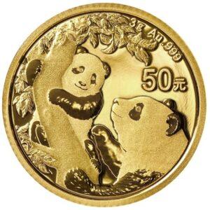 Kinesiske Panda guldmønt 3g 2021