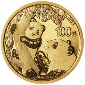 Kinesiske Panda guldmønt 8g 2021