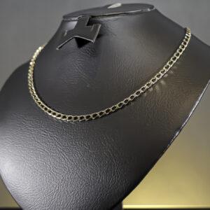 Flad facet halskæde i 14 karat guld