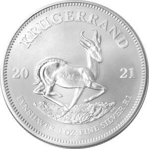 Krugerrand 1 oz sølvmønt (2021)