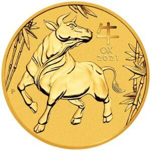 Ox lunar III 1/4 oz guldmønt (2021)