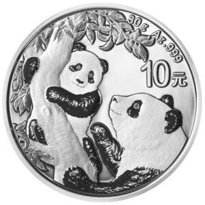 Kinesisk Panda 30g sølvmønt - 2021