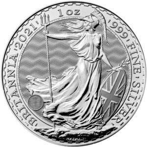 Britannia 1oz sølvmønt (2021)