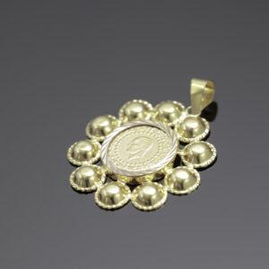 Vedhæng 25 kurush guldmønt i 22 karat guld