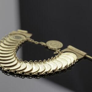 Armlænke med 23 x 25 kurush mønter i 22 karat guld