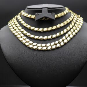 2 meter plade halskæde i 18 karat guld