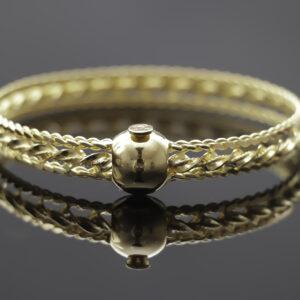 Burma armring med lås i 22 karat guld