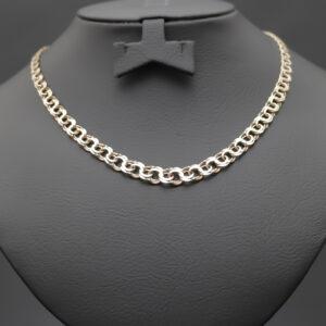 Kraftig bismarck halskæde i 18 karat guld