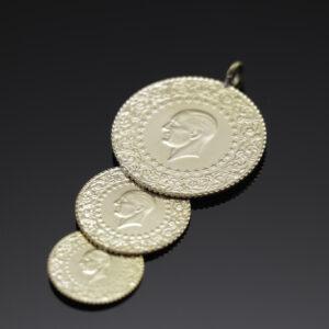 Vedhæng med kurush mønter i 22 karat guld