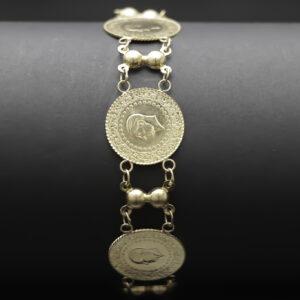 Armlænke i 22 karat med kurush mønter