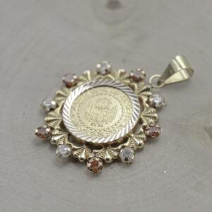 Vedhæng med 50 kurush mønt i 22 karat guld