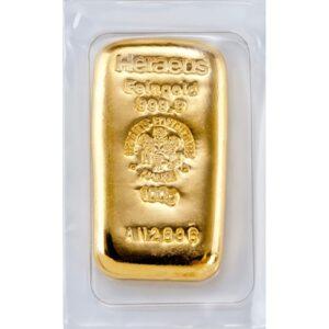 Heraeus guldbarre 100g