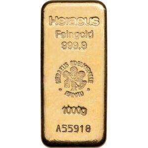 Heraeus guldbarre 1000g