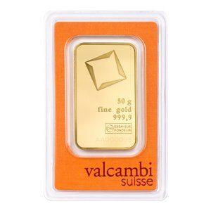Valcambi guldbar 50g